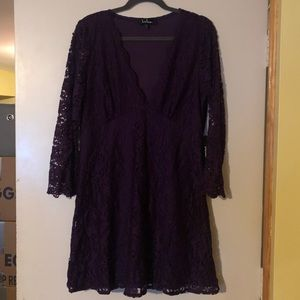 LULUS purple lace dress